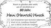Heini Heinrich Hinsch