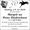 Margrit an Peter Diedrichsen
