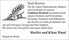 Marlies und Klaus Wand