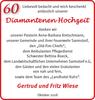 60 Diamantenen Hochzeit Gertrud und Fritz Wiese