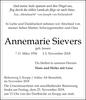 Annemarie Sievers