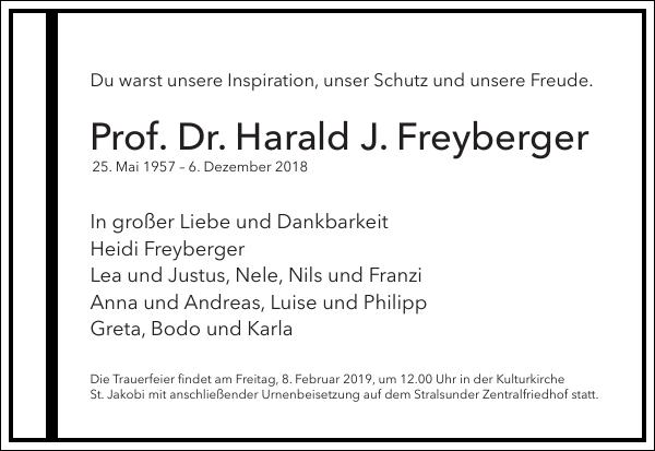 Prof. Dr. Harald J. Freyberger