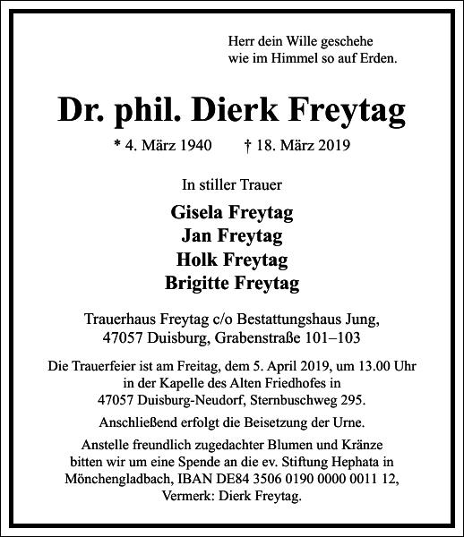 Dr. phil. Dierk Freytag