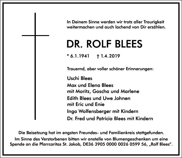 DR. ROLF BLEES