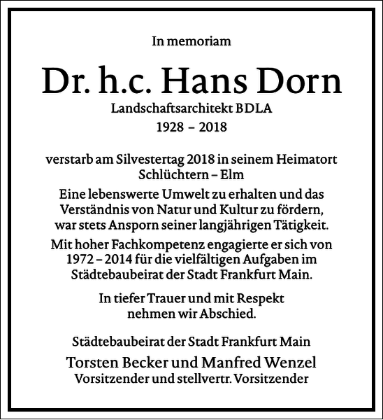Dr. h. c. Hans Dorn