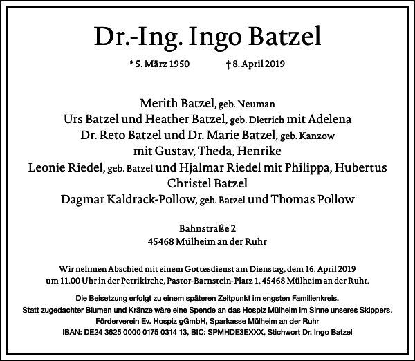 Dr.-Ing. Ingo Batzel