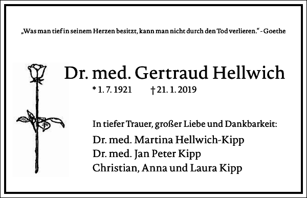 Dr. med. Gertraud Hellwich