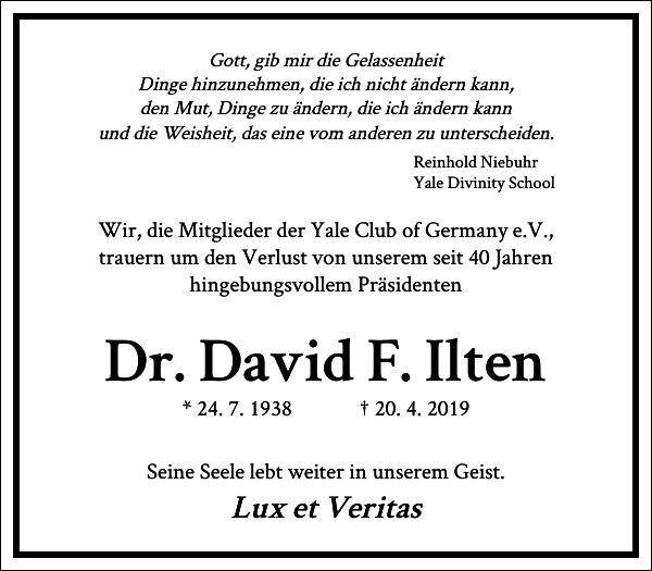 Dr. David F. Ilten