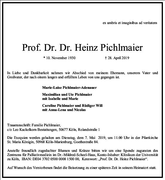 Prof. Dr. Dr. Heinz Pichlmaier