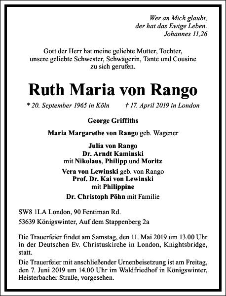 Ruth Maria von Rango