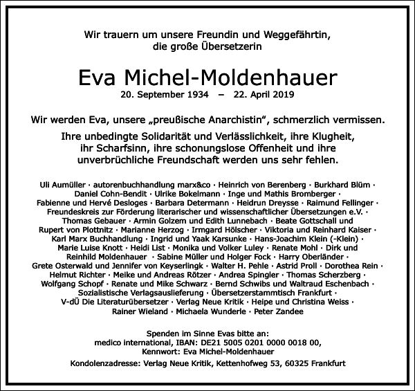 Eva Michel-Moldenhauer