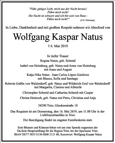 Wolfgang Kaspar Natus