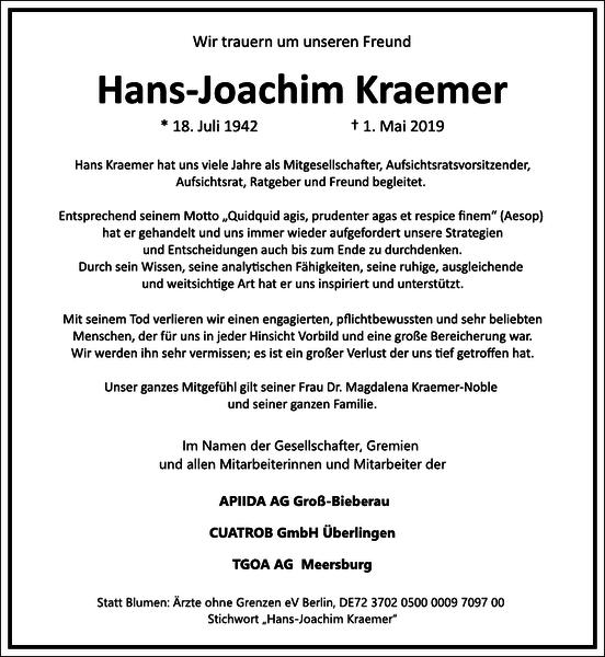 Hans-Joachim Kraemer