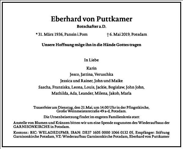 Eberhard von Puttkamer