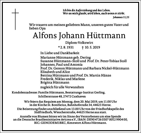 Alfons Johann Hüttmann