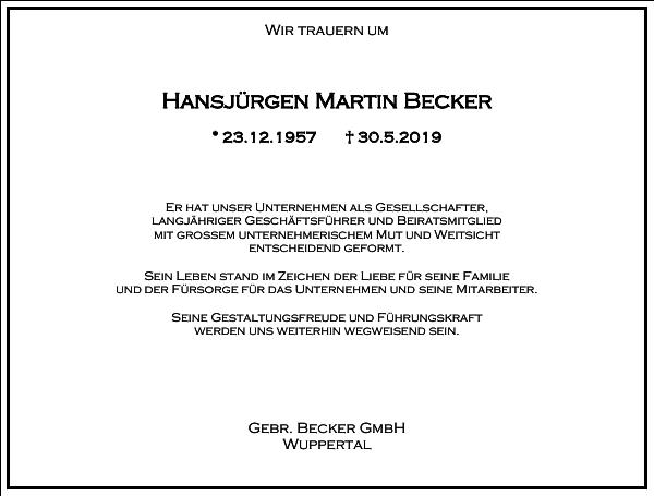 Hansjürgen Martin Becker
