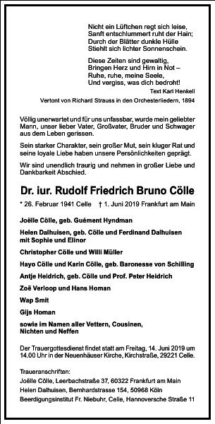 Rudolf Friedrich Bruno Cölle