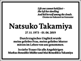 Natsuko Takamiya : Traueranzeige