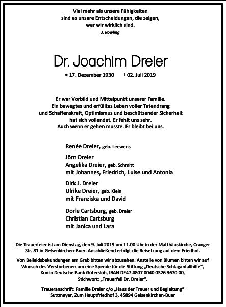Dr. Joachim Dreier