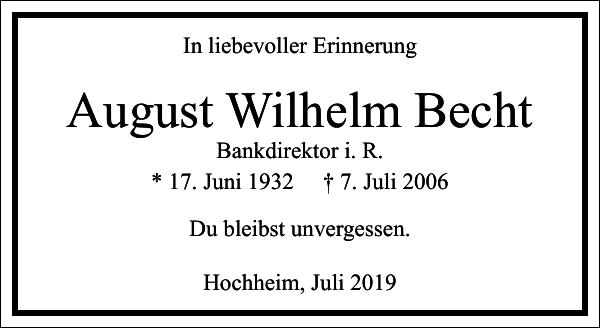 August Wilhelm Becht