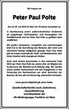 Peter Paul Polte : Unternehmensnachrufe