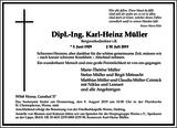 Karl-Heinz Müller : Traueranzeige