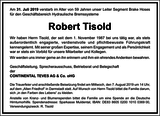 Robert Tisold : Unternehmensnachrufe