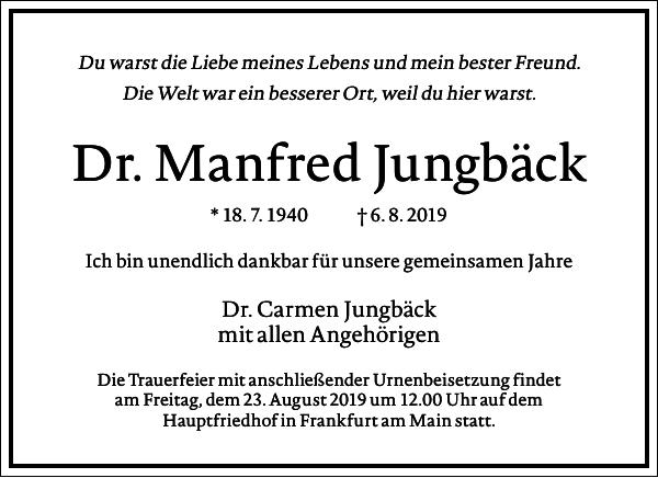 Dr. Manfred Jungbäck
