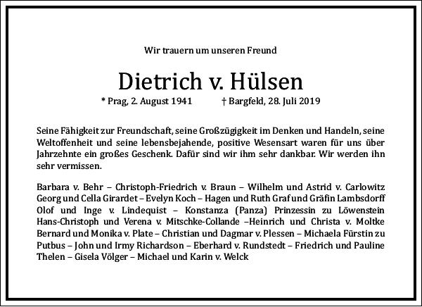 Dietrich v. Hülsen