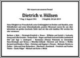 Dietrich v. Hülsen : Traueranzeige