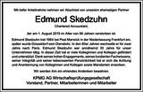 Edmund Skedzuhn : Unternehmensnachrufe