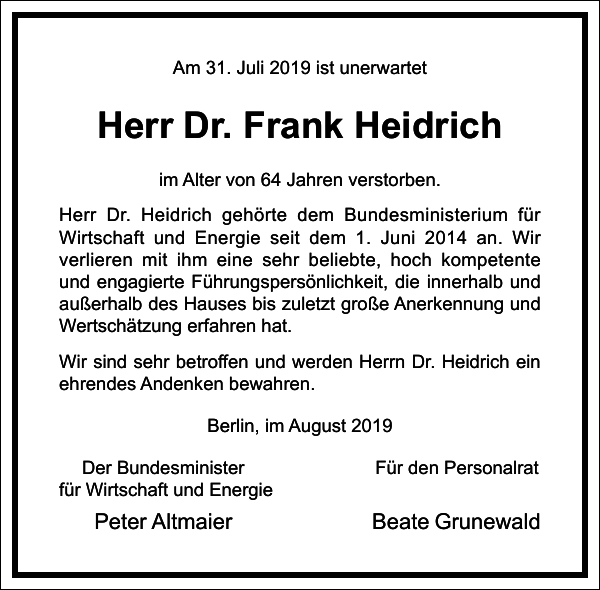 Dr. Frank Heidrich