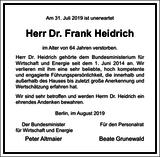 Dr. Frank Heidrich : Unternehmensnachrufe