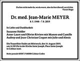 Jean-Marie Meyer : Traueranzeige