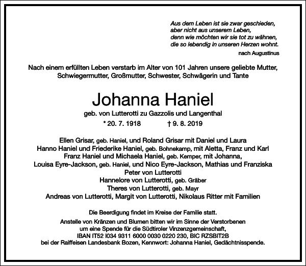 Johanna Haniel