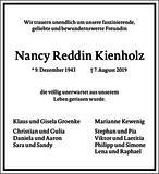 Nancy Reddin Kienholz : Traueranzeige