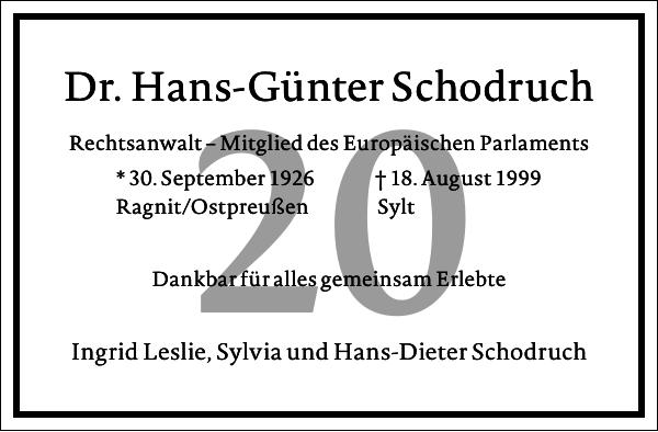 Dr. Hans-Günter Schodruch
