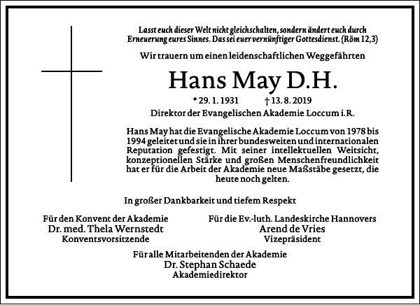 Hans May D. H