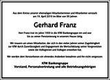 Gerhard Franz : Unternehmensnachrufe