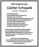 Günter Schwank : Unternehmensnachrufe