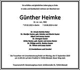 Günther Heimke : Traueranzeige