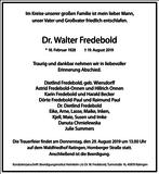 Dr. Walter Fredebold : Traueranzeige