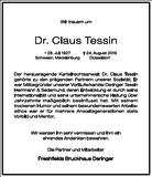 Claus Tessin : Unternehmensnachrufe