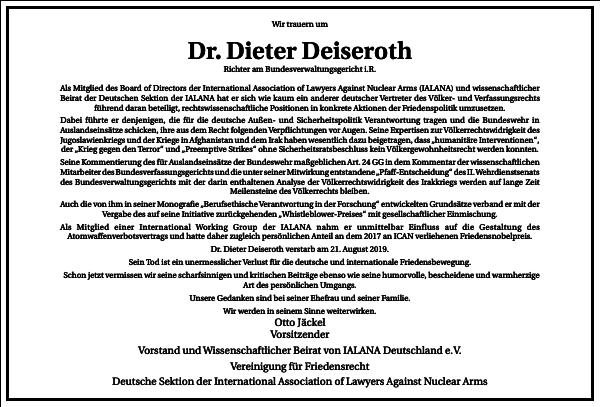 Dr. Dieter Deiseroth