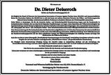 Dr. Dieter Deiseroth : Unternehmensnachrufe