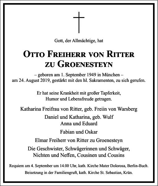 Otto Freiherr von Ritter