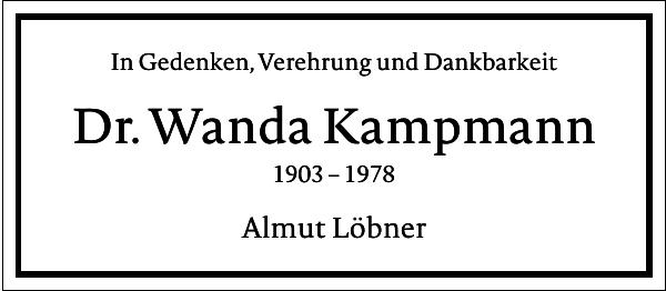 Dr. Wanda Kampmann