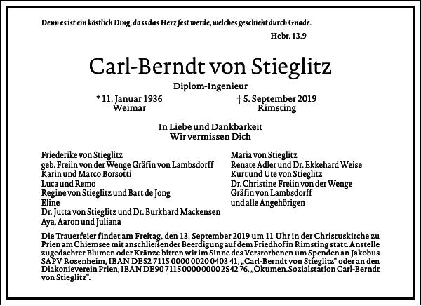 Carl-Berndt von Stieglitz