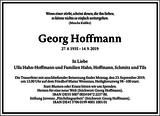 Georg Hoffmann : Traueranzeige