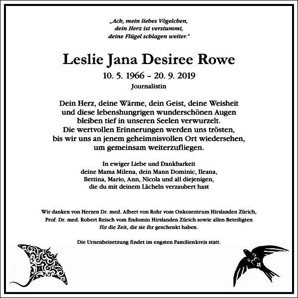 Leslie Jana Desiree Rowe